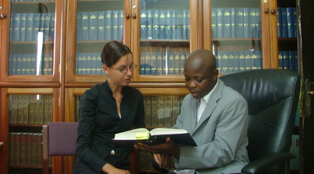 A Projects Abroad law volunteer works to solve a legal case in Ghana during her internship.